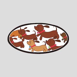 Running Weiner Dogs Patches