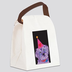 BIRTHDAY YORKIE Canvas Lunch Bag