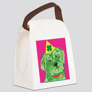 St. Patricks Day Dog Canvas Lunch Bag