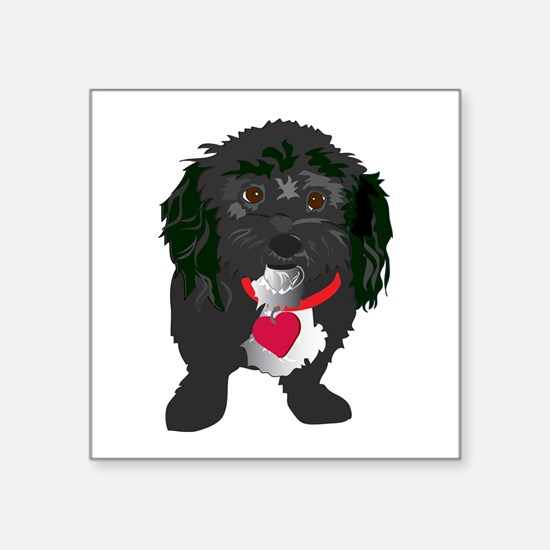 "BLACKDOG.png Square Sticker 3"" x 3"""