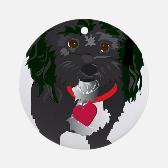 BLACKDOG.png Ornament (Round)