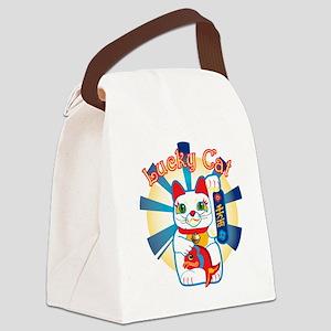 HAPPYCAT1 Canvas Lunch Bag