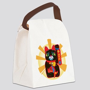 HAPPYCAT22 Canvas Lunch Bag