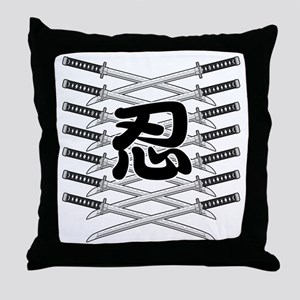 Shinobi2 Throw Pillow