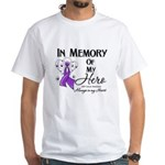 In Memory GIST Cancer White T-Shirt