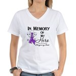 In Memory GIST Cancer Women's V-Neck T-Shirt