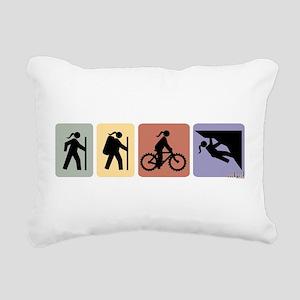 multisportgirlhoriz Rectangular Canvas Pillow