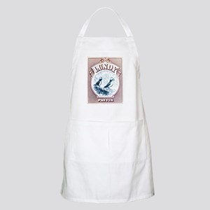 1928 Lundy Island Puffins Engraved Print Apron