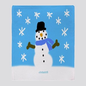 HI54WINT Snowie the Snowboy Throw Blanket