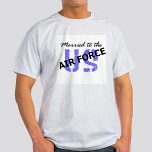 Married to the Air Force Ash Grey T-Shirt