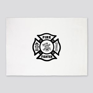 Firefighter 5'x7'Area Rug