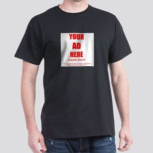 YOUR AD HERE Black T-Shirt