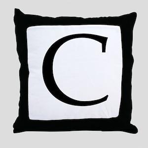 C_Book_Antiqua_black Throw Pillow
