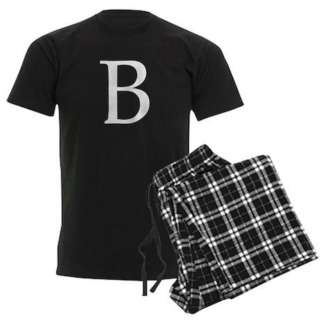 B_Book_Antiqua_white.psd Men's Dark Pajamas