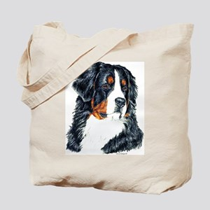 Bernese Mountain Dog Portrait Tote Bag