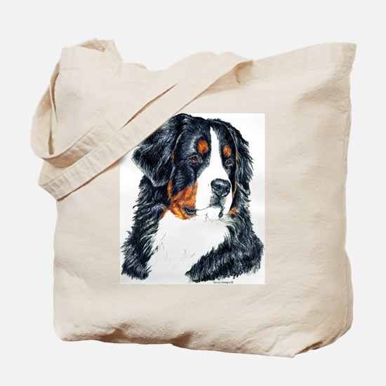 Bernese Mountain Dog Portrait Tote Bag