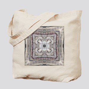 Pretty Pink Tinged Aztec Inspired Pattern Tote Bag