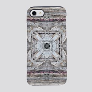 Pretty Pink Tinged Aztec Inspi iPhone 7 Tough Case