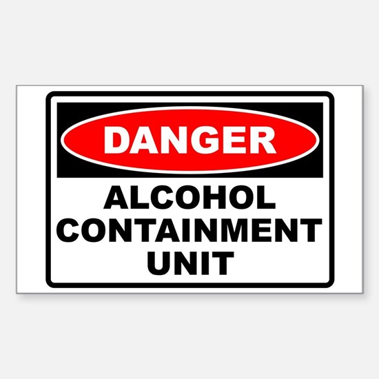 Alcohol Containment Rectangle Stickers