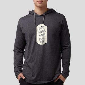 English Sarcasm Profanity Mens Hooded Shirt