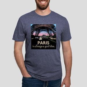 Paris France Mens Tri-blend T-Shirt