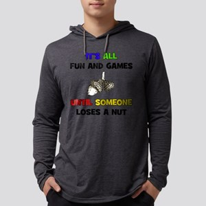 Fun Games - Loses A Nut Mens Hooded Shirt