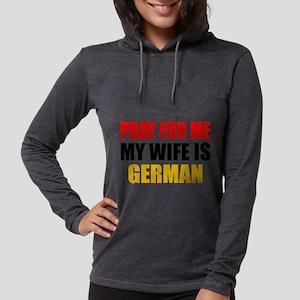 Pray Wife German Womens Hooded Shirt
