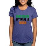 Pray For Me My Wife Is Irish Womens Tri-blend T-Sh