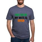 Pray For Me My Wife Is Irish Mens Tri-blend T-Shir