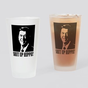 Shut up Hippie Drinking Glass