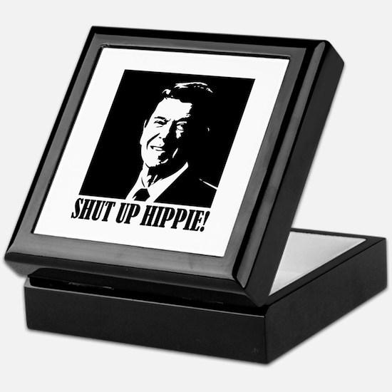 Shut up Hippie Keepsake Box