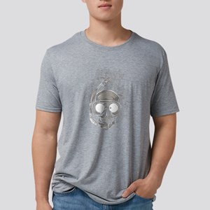 Diver Skull Mens Tri-blend T-Shirt