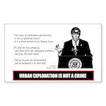 UE IS NOT A CRIME vinyl sticker