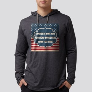Personalized USA President Mens Hooded Shirt