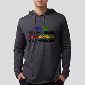 Fun & Games - Impeached Mens Hooded Shirt