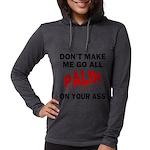 FIN-palin-on-your-ass Womens Hooded Shirt