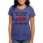 FIN-palin-on-your-ass Womens Tri-blend T-Shirt