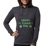 St. Patrick's Day Womens Hooded Shirt
