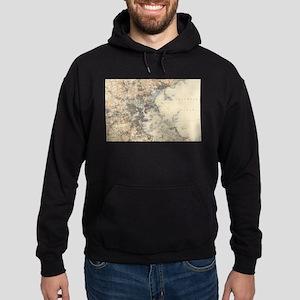 Vintage Boston Topographic Map (1900) Sweatshirt