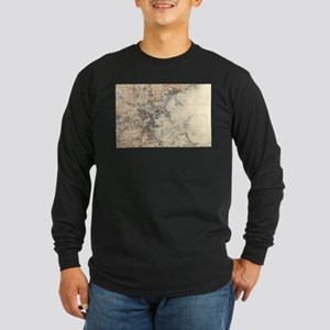 Vintage Boston Topographic Map Long Sleeve T-Shirt