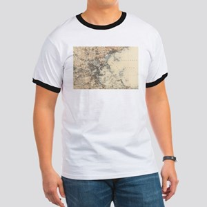 Vintage Boston Topographic Map (1900) T-Shirt