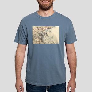 Vintage Boston Topograph Mens Comfort Colors Shirt