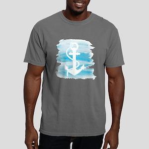 Watercolor Anchor Mens Comfort Colors Shirt