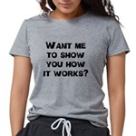 FIN-how it works.png Womens Tri-blend T-Shirt