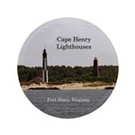 Cape Henry Lighthouses Button