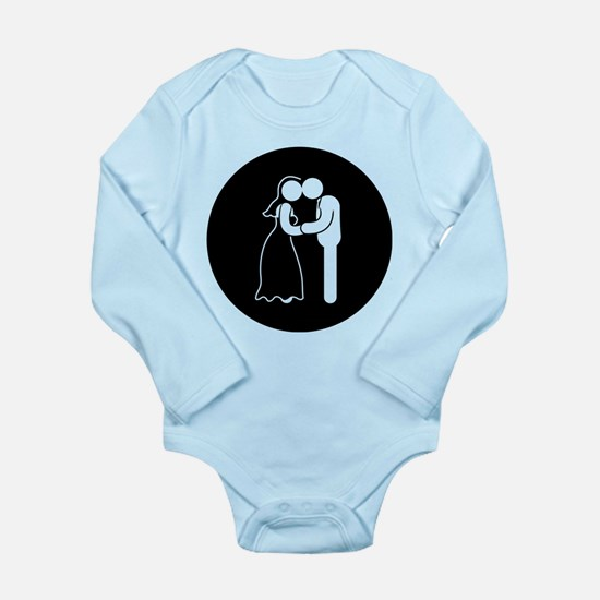 Wedding Long Sleeve Infant Bodysuit