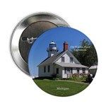 "Old Mission Point Lighthouse 2.25"" Button"