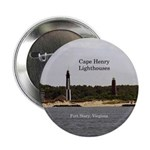 "Cape Henry Lighthouses 2.25"" Button"