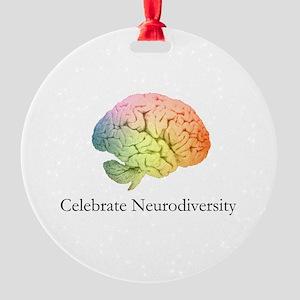 Celebrate Neurodiversity Round Ornament