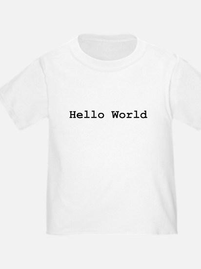 Hello World T